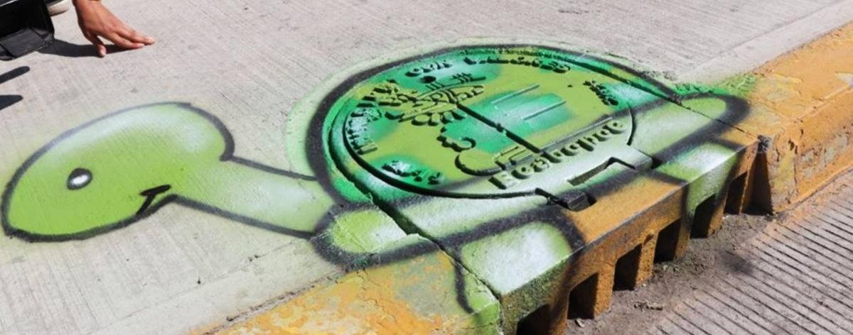 Adopta una Coladera,  proyecto de arte urbano en Ecatepec