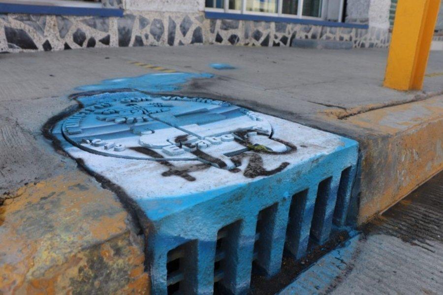 alcantarilla intervenida en la colonia Miguel Hidalgo