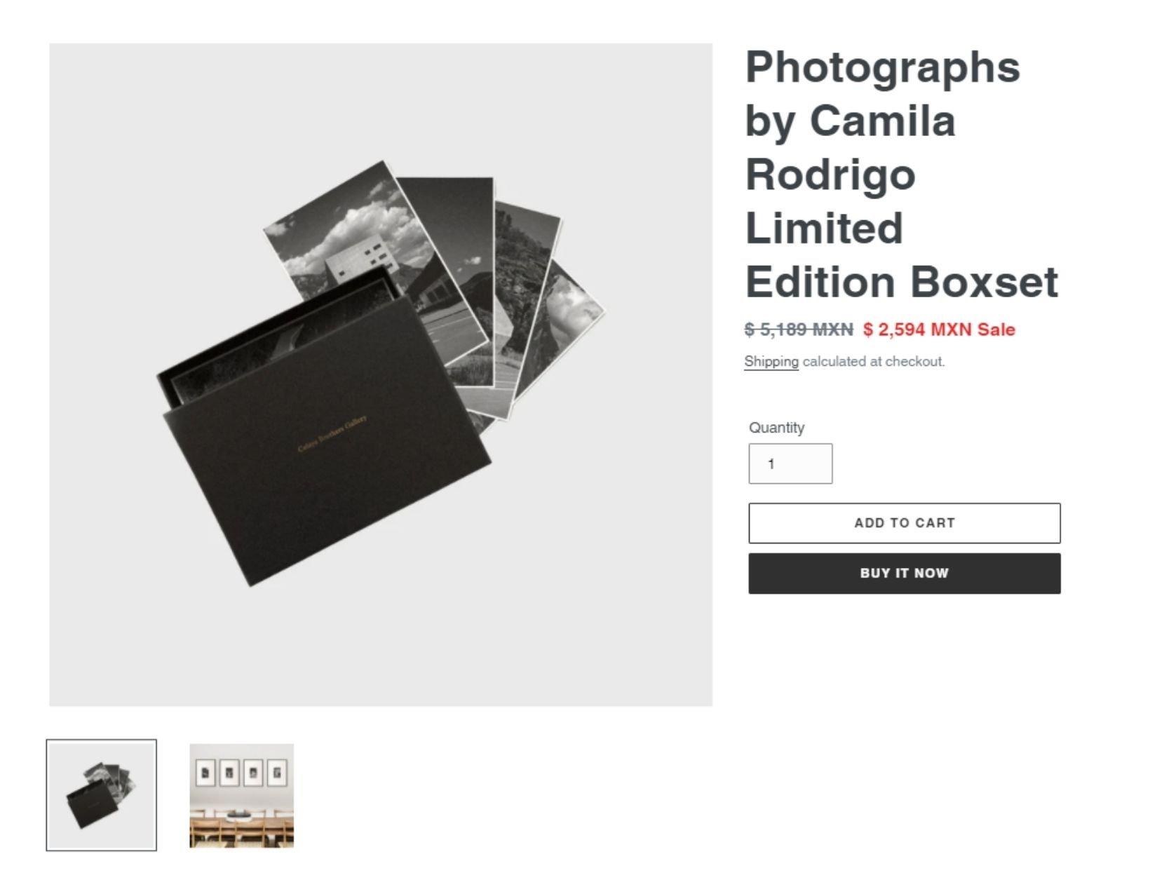 Fotografías en blanco y negro de Camila Rodrigo | Descuentos para el Buen Fin 2020