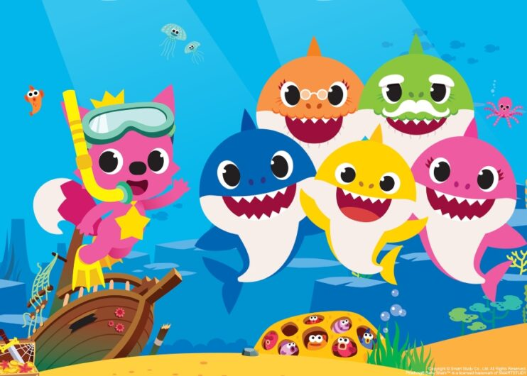 Escena del video musical Baby Shark Dane
