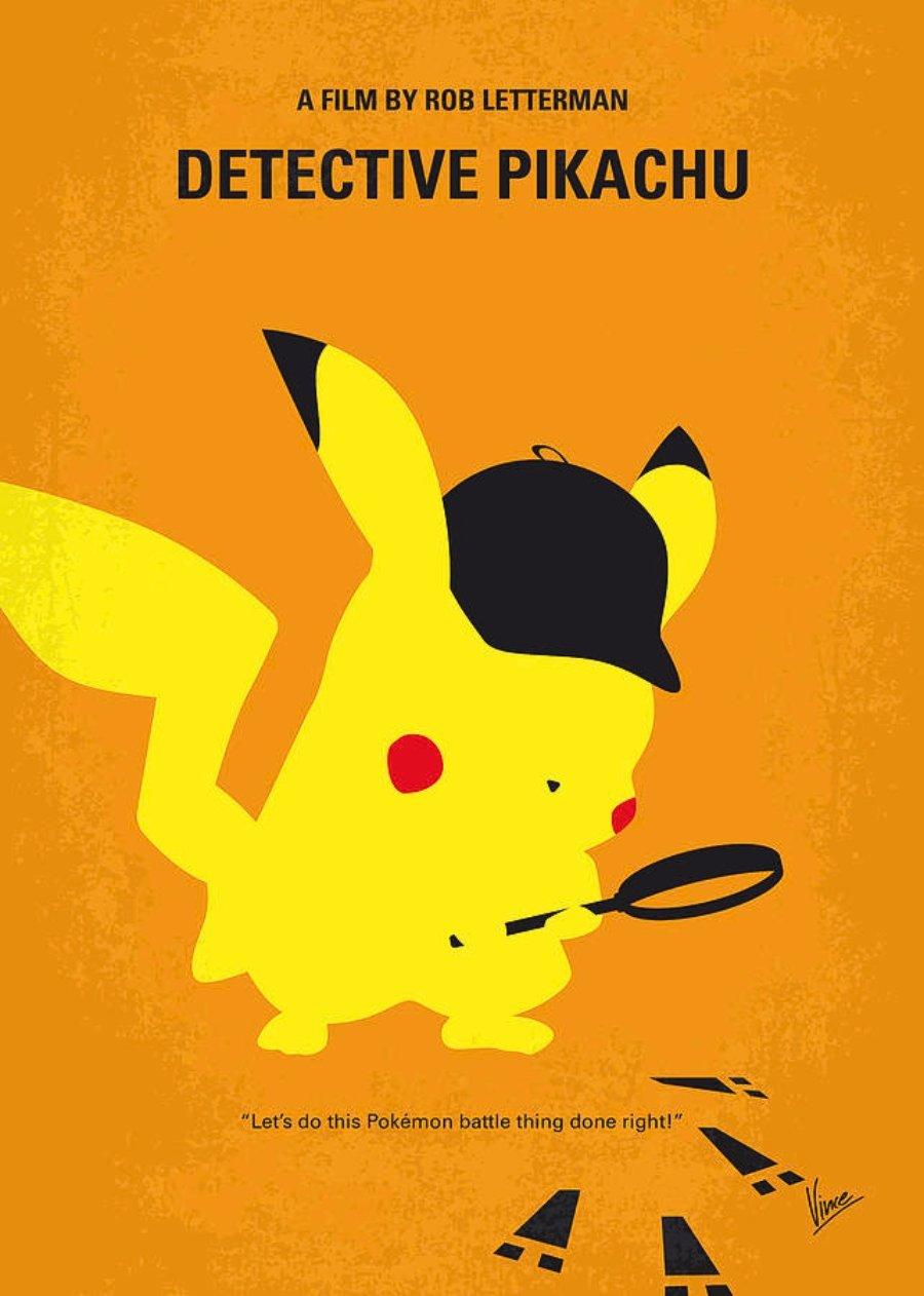 Poster de Detective Pikachu Por Chungkong