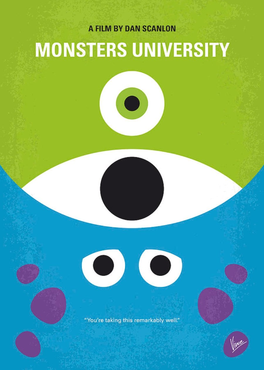 Poster de a Monster University por Chungkong