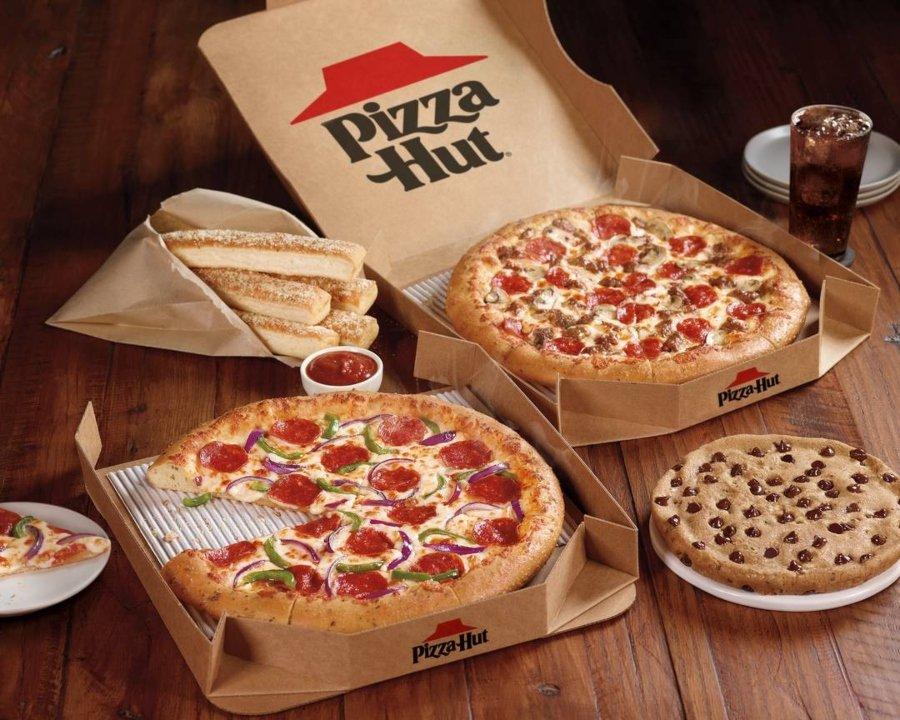 Aspecto de las pizzas Pizza Hut