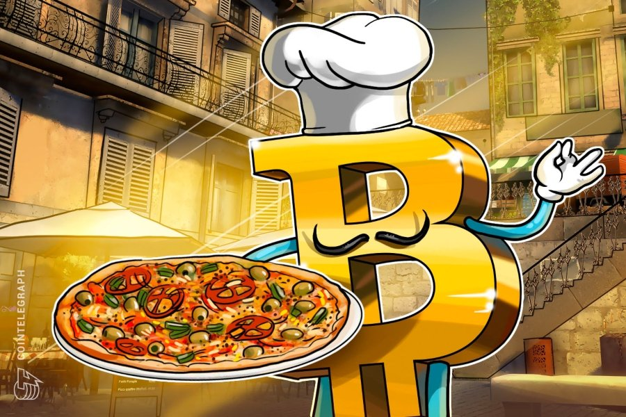 Bitcoin con pizza