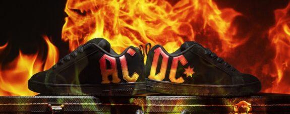 DC y AC/DC en colaboración rockera para skaters