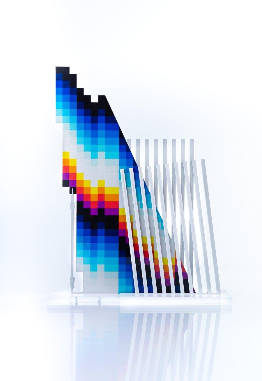 Escultura Optichromie dimensional 3S