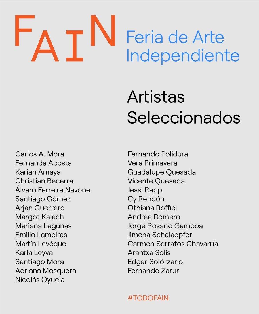 Artistas de la Feria de Arte Independiente 2020