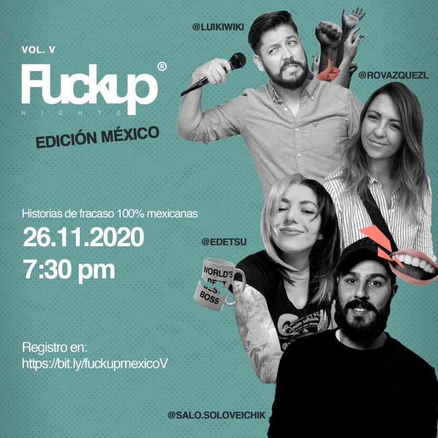 Participantes de las Fuckup Nights México este 26 de noviembre