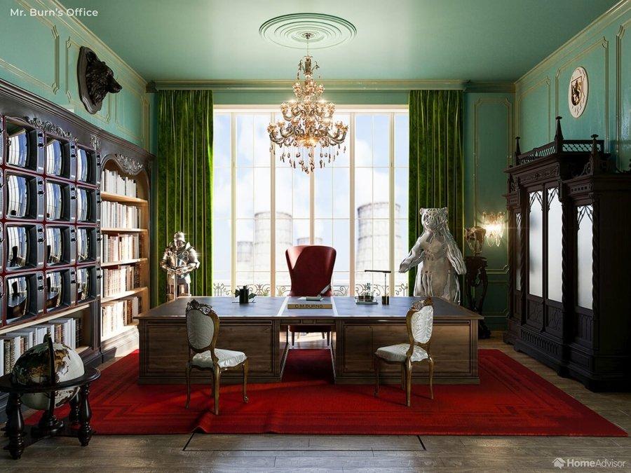 Oficina del sr. Burns al estilo WesAnderson