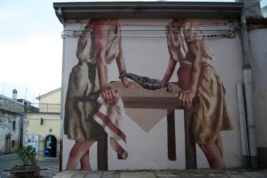 Mural por la artista argentina afincada en Valencia