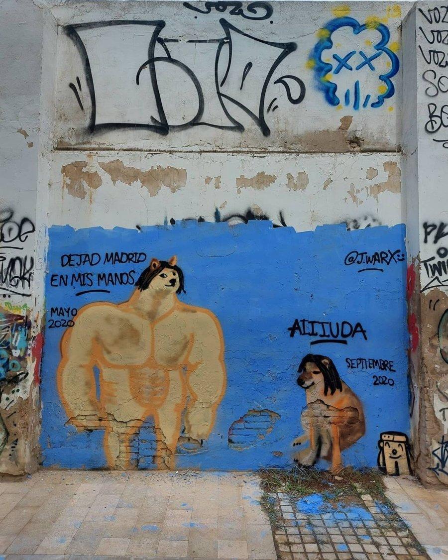 Los murales del artita valenciano satirizan la realidad de España