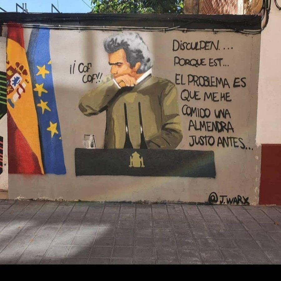 El artista valenciano satiriza sobre la realidad actual de España