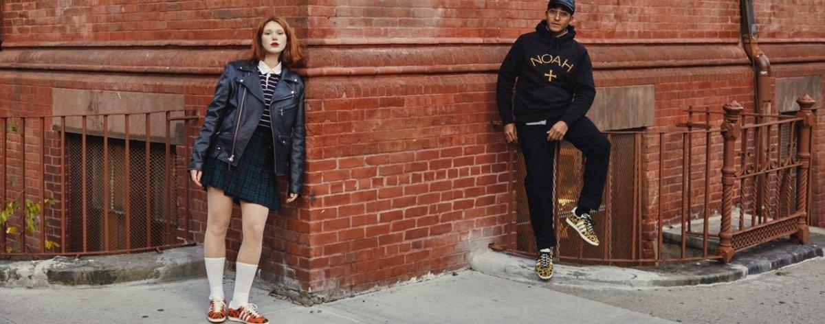 Noah y Adidas Originals con zapatillas animal print