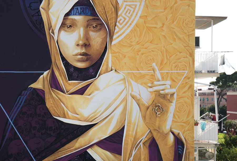 "Mural""POLVERA DI STELLE"""