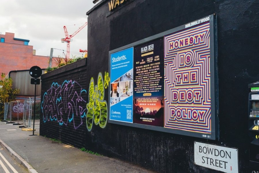 Instalación de Rob Lee en calles de Sheffield