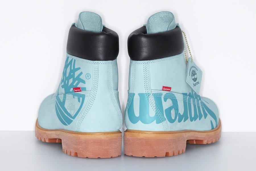 Aspecto de las nuevas botas de Timberland con Supreme