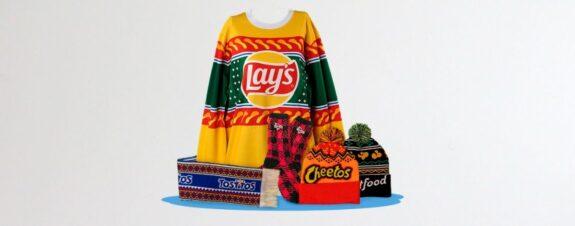 Suéteres navideños de Cheetos para el frío