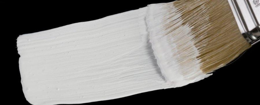 Pintura blanca y brocha