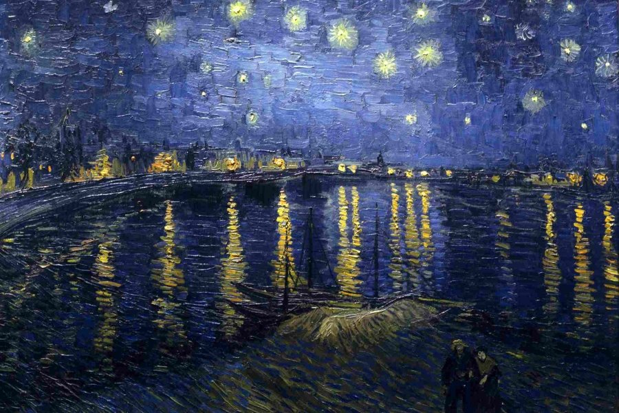 """""""Noche estrellada sobre el Ródano"""" (1888)"""