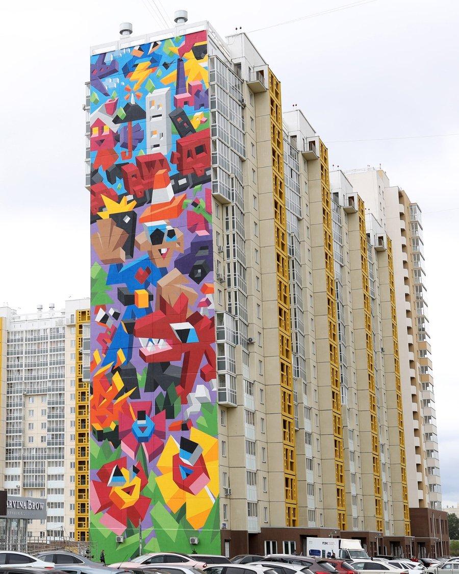 Mural de Vitaly Tsarenkov para Urban Morphogenesis