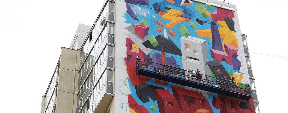Vitaly Tsarenkov y su mural «Love of Nature»