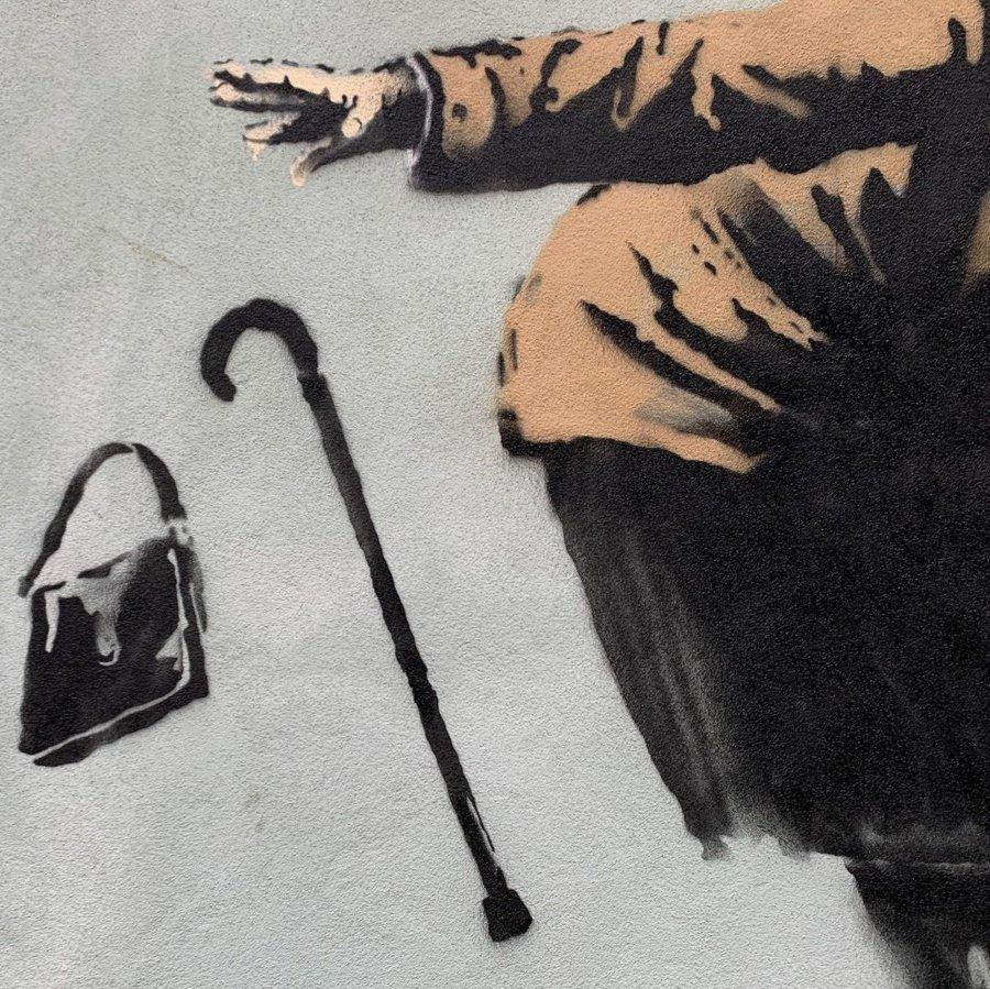¡¡Aachoo!!, nuevo graffito de Banksy en Bristol