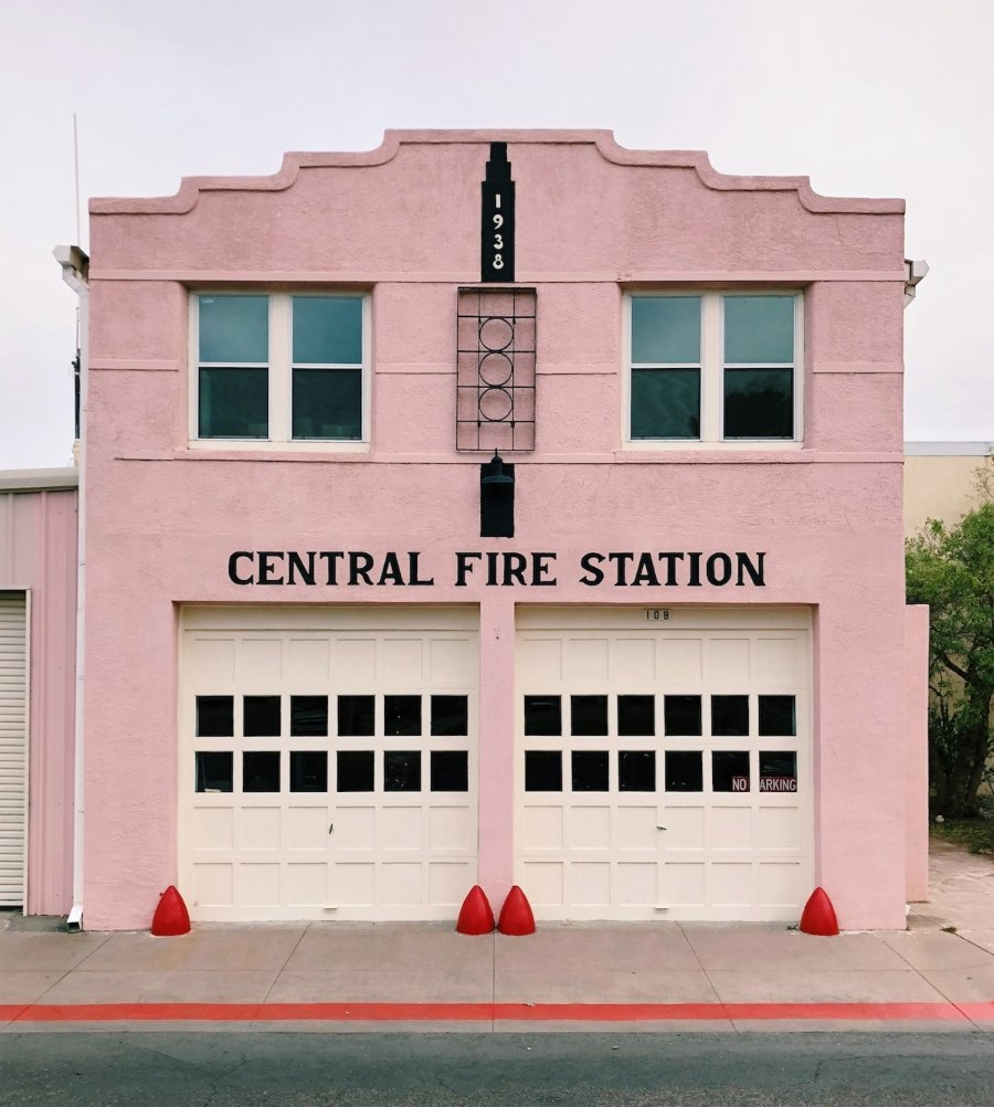 Accidentally Wes Anderson: Marfa Fire Station, Texas, USA
