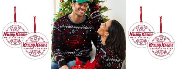 Suéteres navideños, el nuevo lanzamiento Krispy Kreme