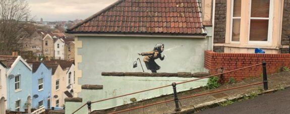 La casa del estornudo de Banksy en posible venta