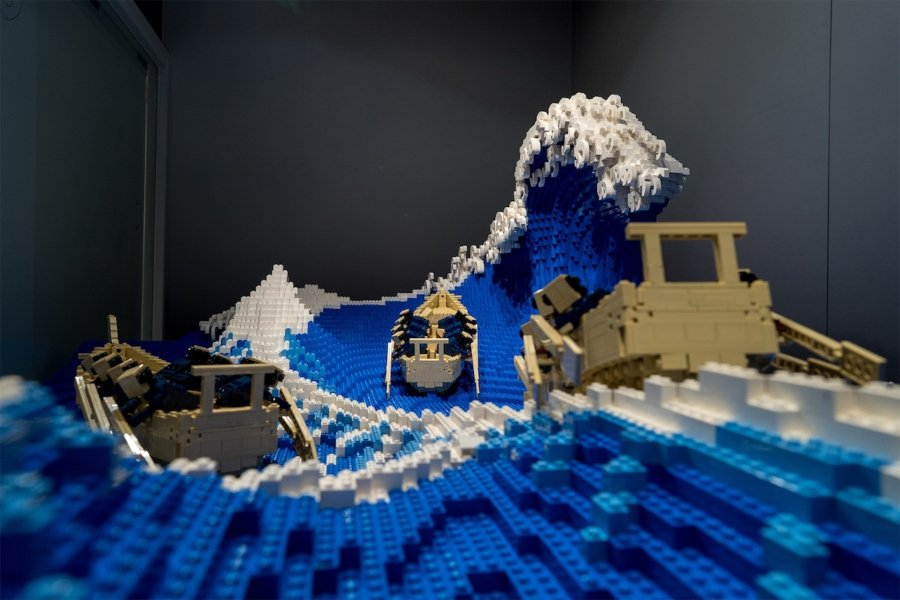 Jumpei Mitsui recreó con LEGO la obra de Hokusai