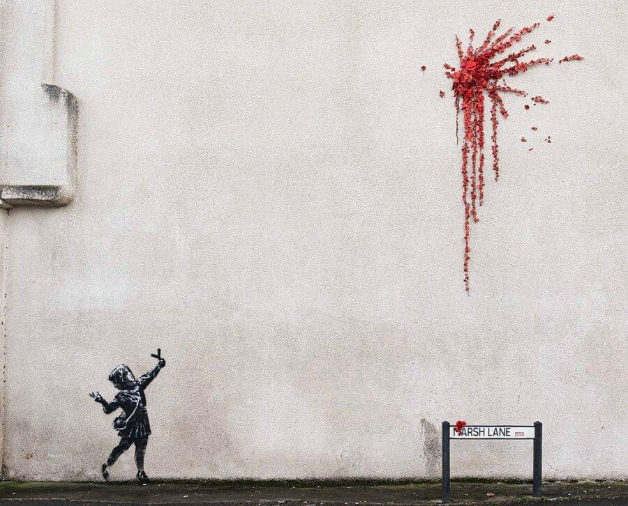 Graffiti de Banksy en Bristol