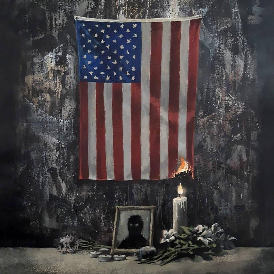 Lienzo de Banksy en homenaje a George Floyd