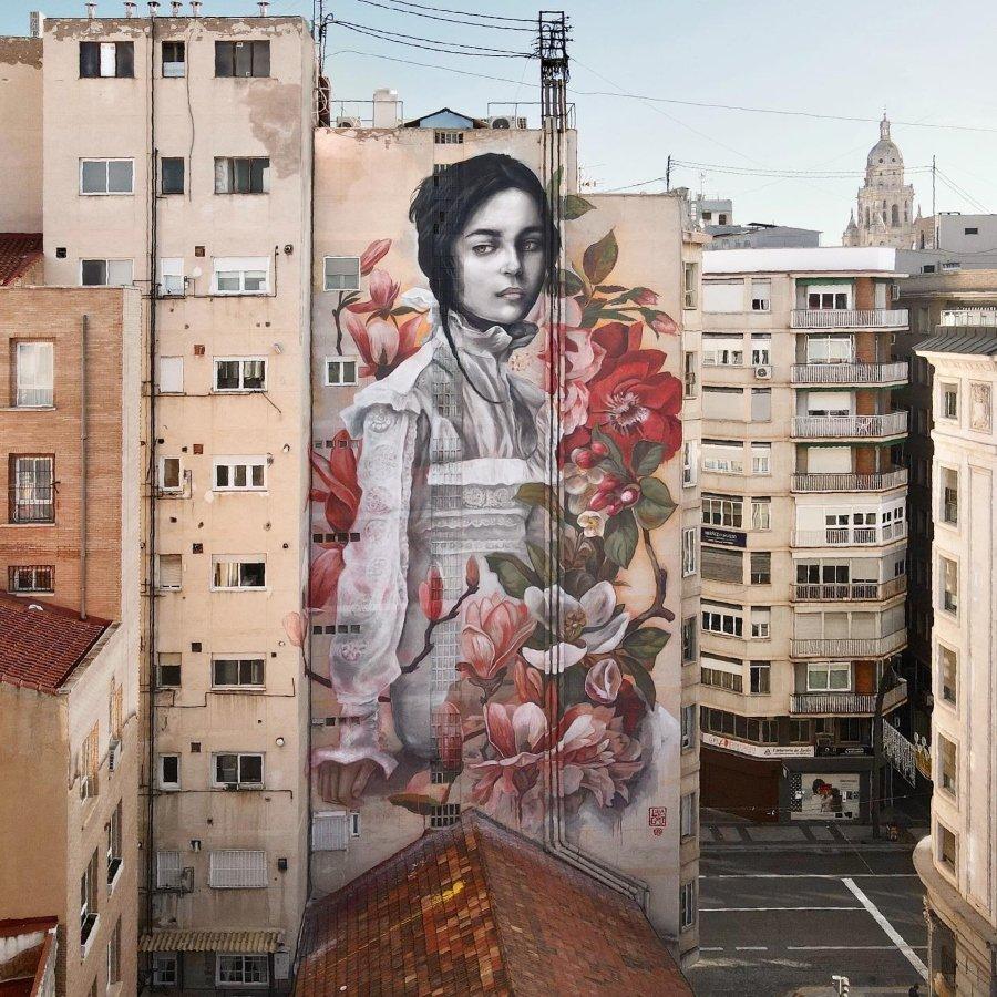 Mural de Lula Goce en Murcia, España