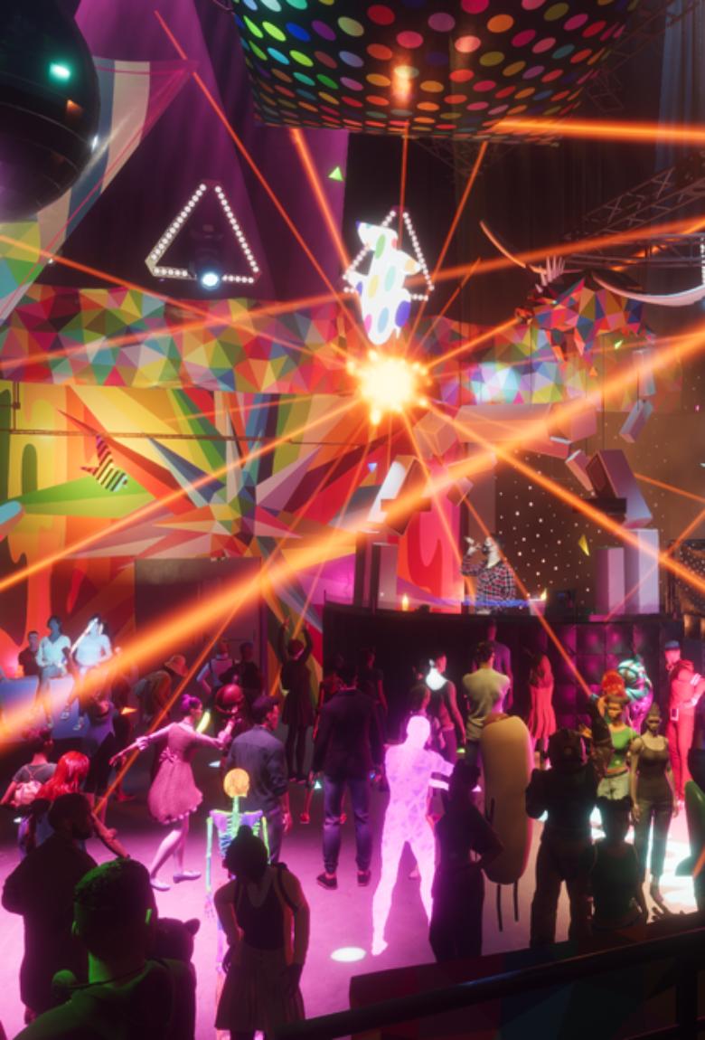 Okuda y Desperados recrearon club de música electrónica