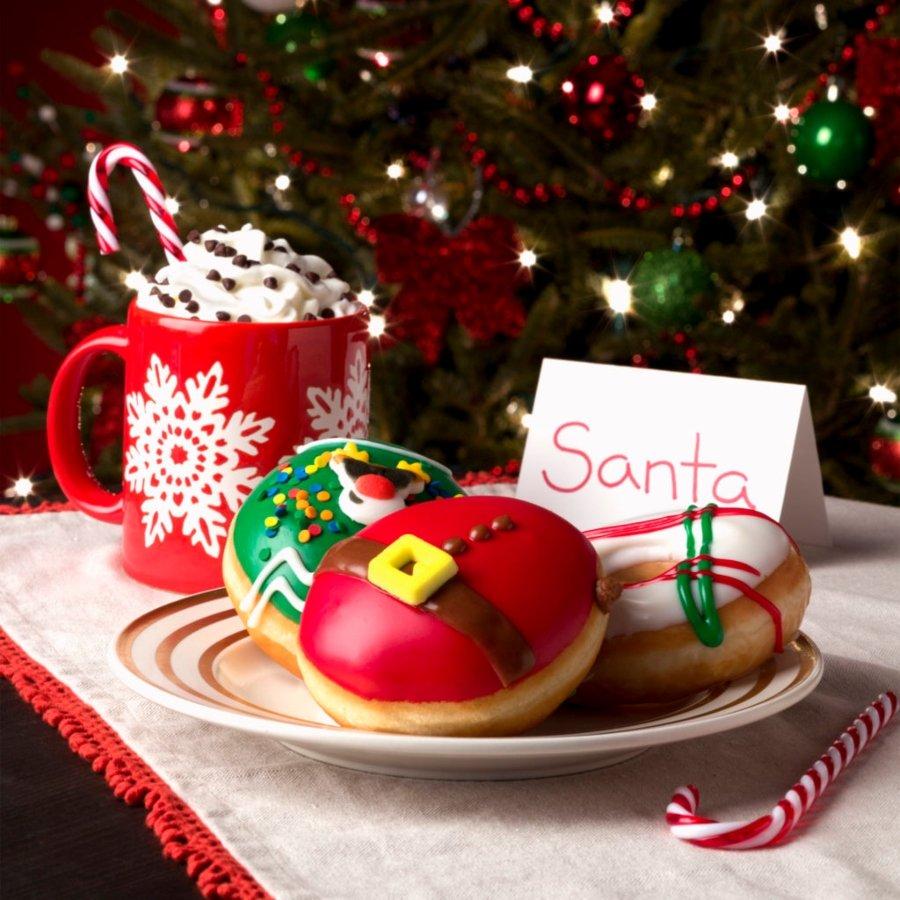 Donas Krispy Kreme navideñas