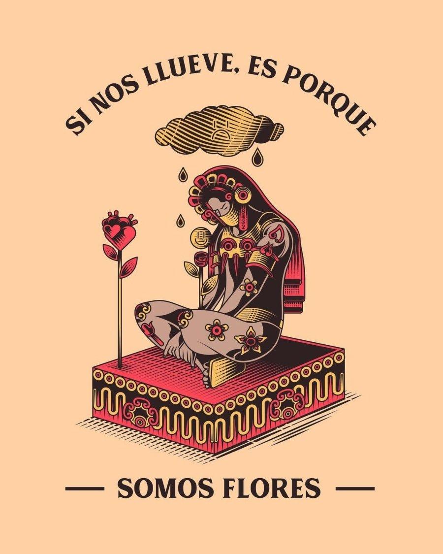 Ilustraciones con referencias precolombinas