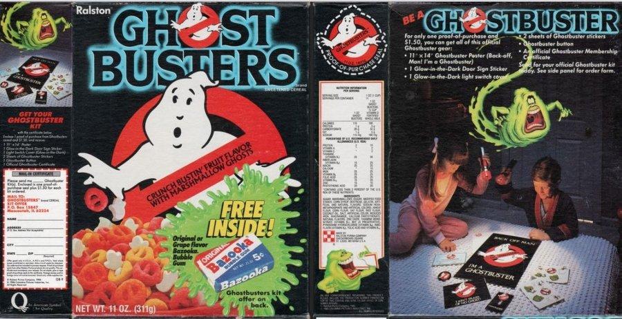 cereal de Ghostbusters de 1985