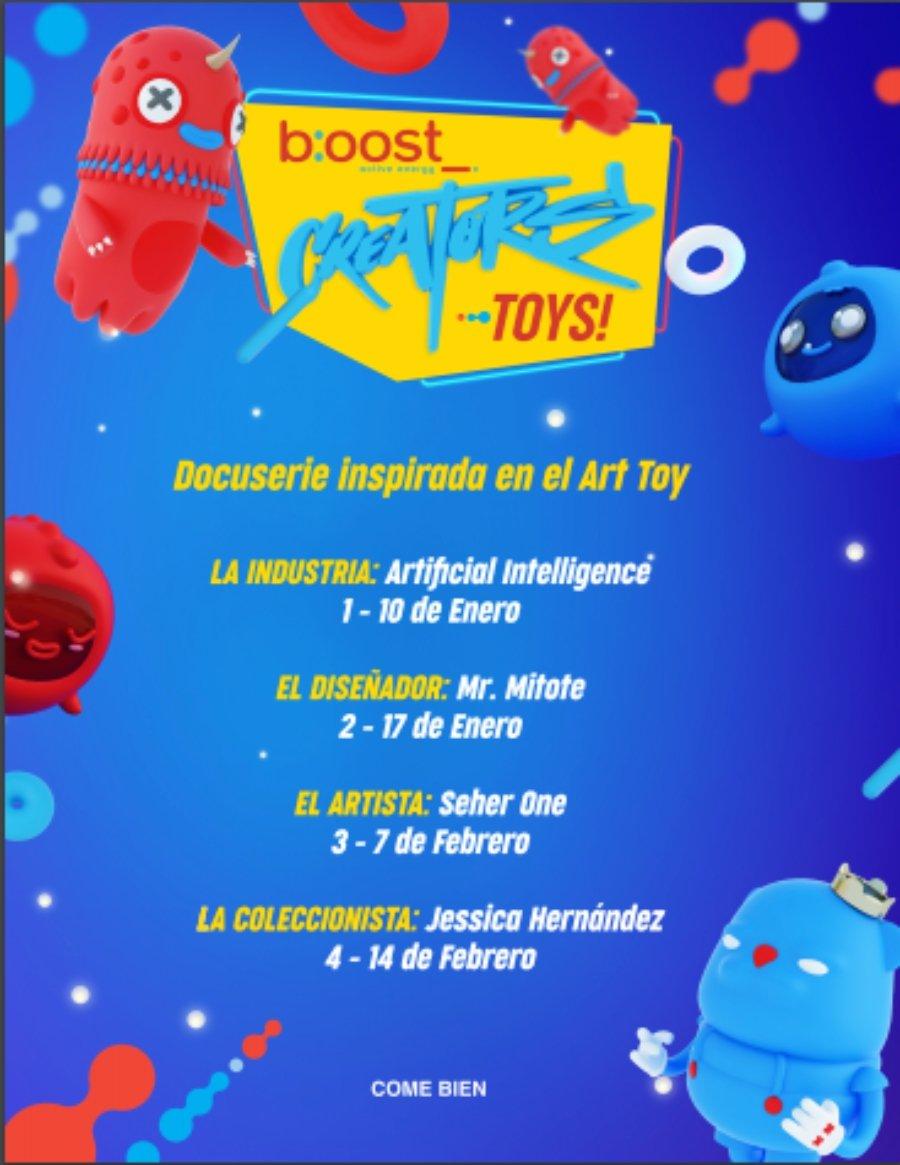 Flyer oficial con la edición TOYS 2021 de CREATORS