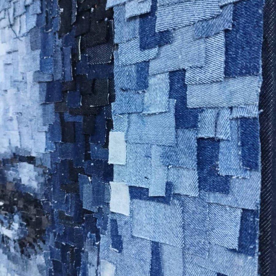 Retratos realistas con mezclilla de Deniz Sagdic