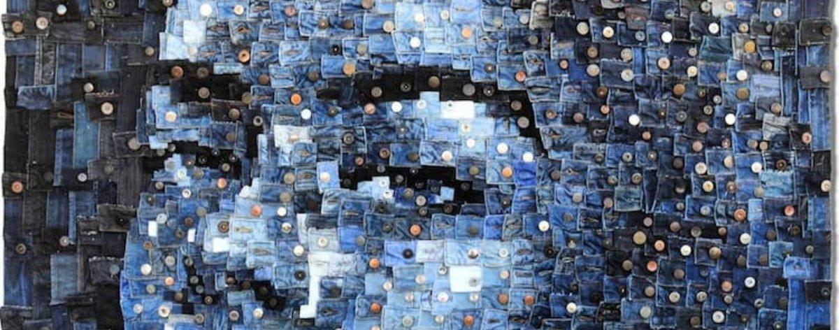 Deniz Sağdıç y el arte realista en mezclilla