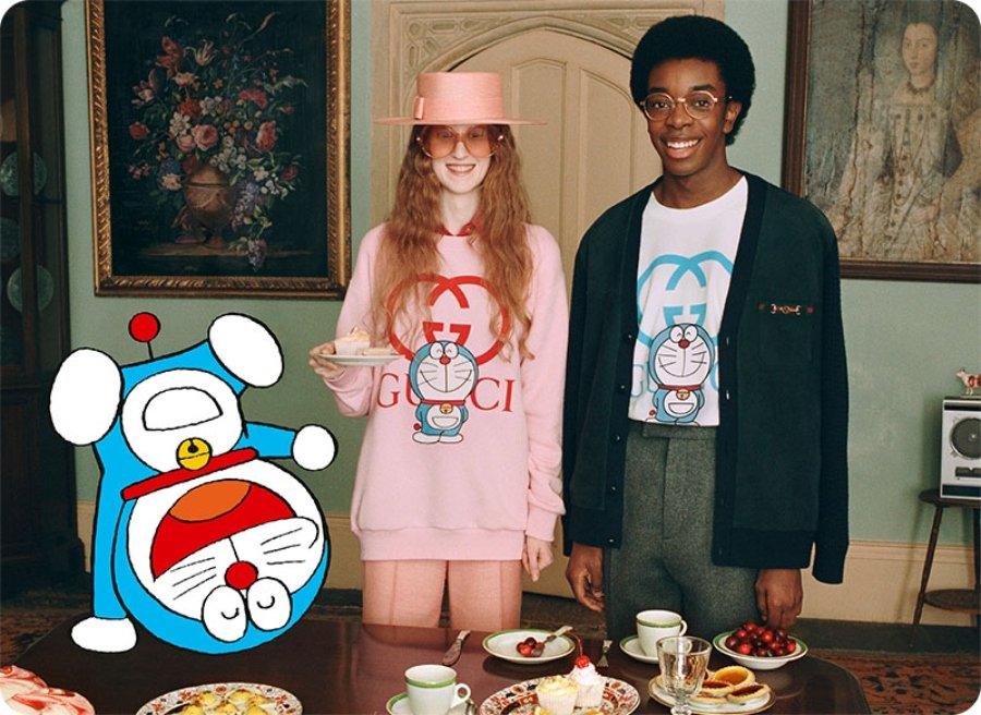 Nuevas prendas colaborativas de doraemon con Gucci