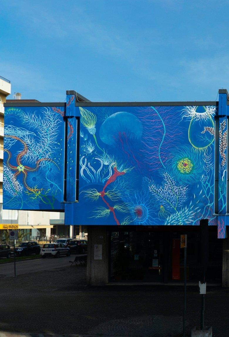 Gola Hundun presentó su mural «Reckless Actions Effects»