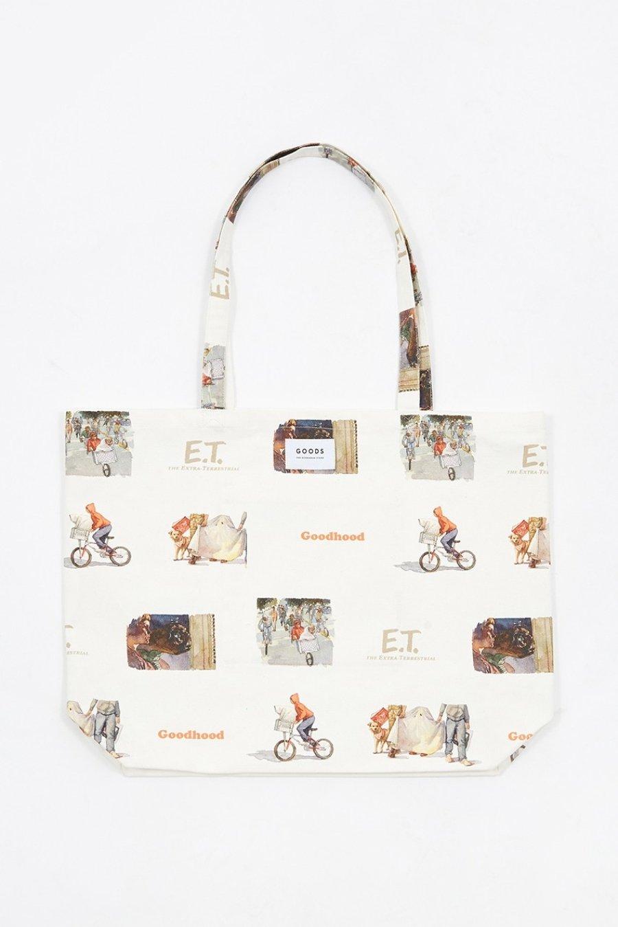 Bolsa de la nueva colección de Goodhood y E.T