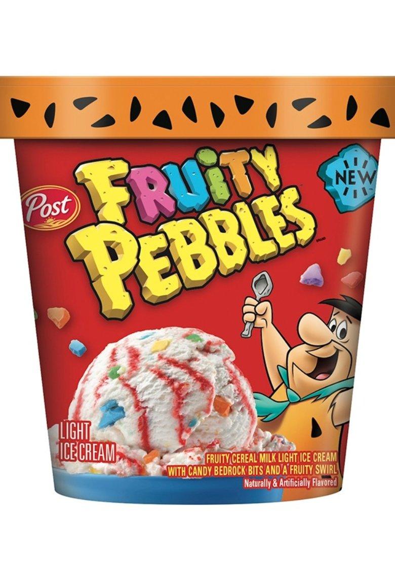 Helado Pebbles para el aniversario del cereal de Los Picapiedra
