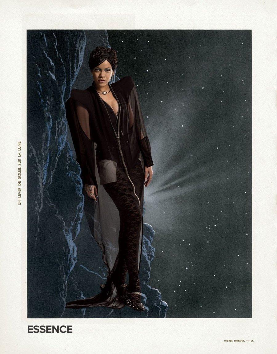 Collage de Lorna Simpson con Rihanna para Essence