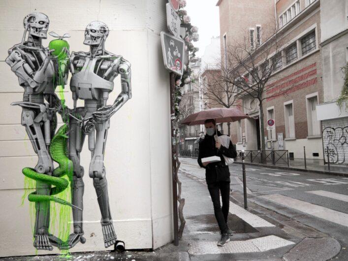 Murales en Francia por LUDO
