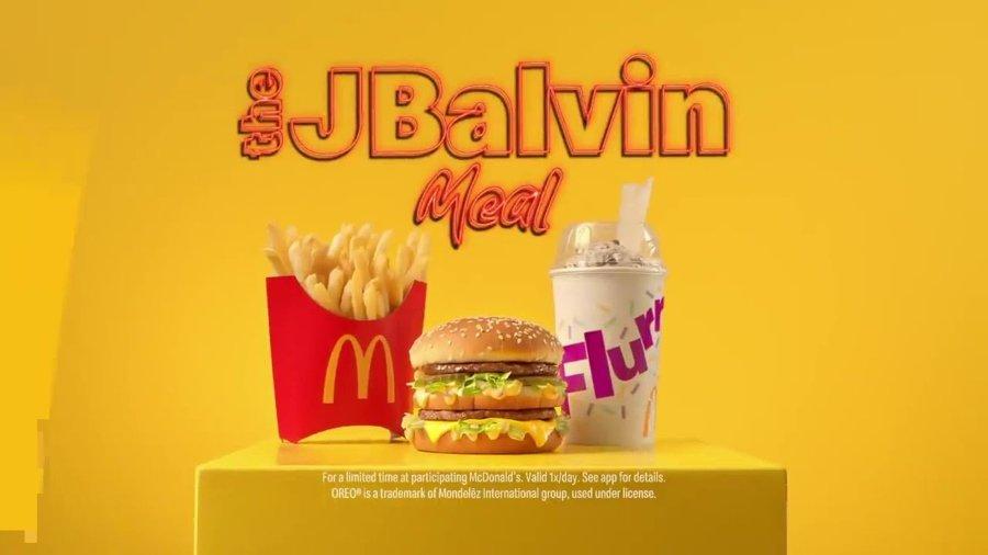 colaboración de McDonald´sy J Balvin