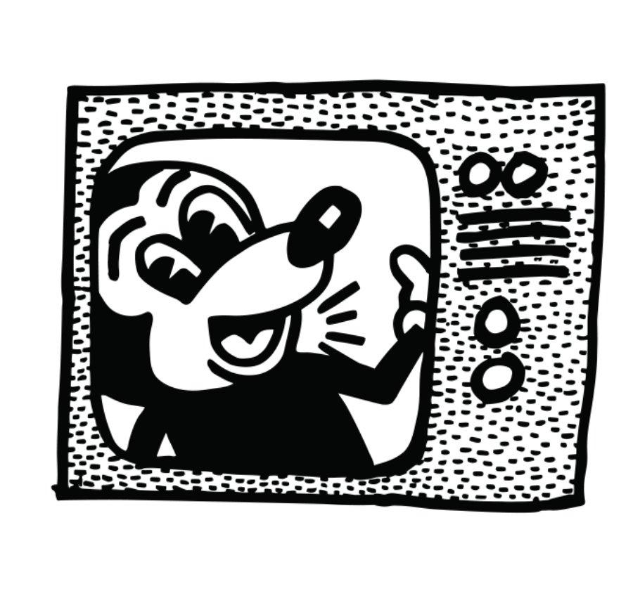 ilustracipopn de Mickey Mouse por Keith Haring