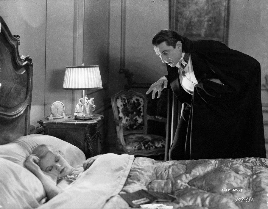 Escena del Drácula, película clásica de terror