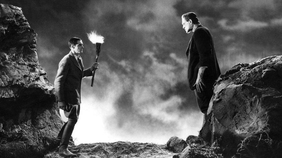 Escena del Dr Frankeinstein, película clásica de terror